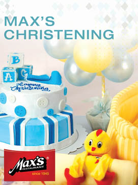Max's restaurant also offers Baptismal or Christening Party packages in almost all of their branches. (Photo taken from their website)