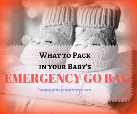 Emergency Go Bag Contents for a Baby