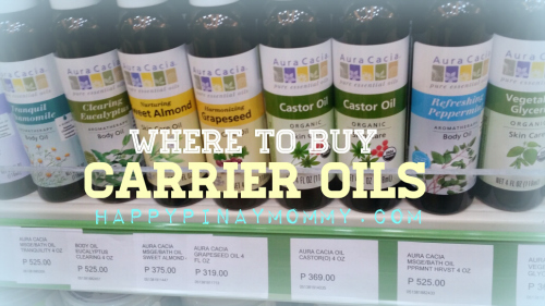 where to buy carrier oils in the philippines
