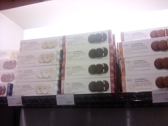 The food section over at Marks and Spencers can be a good venue to find reasonably-priced edible gift items.