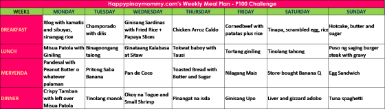 week 1 meal plan p10000 ulam recipes month long challenge