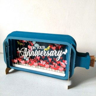 3d pop up anniv bottle card