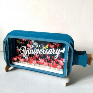 3d pop up anniv bottle card