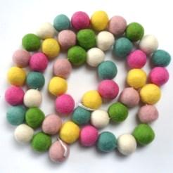 pastel ball string