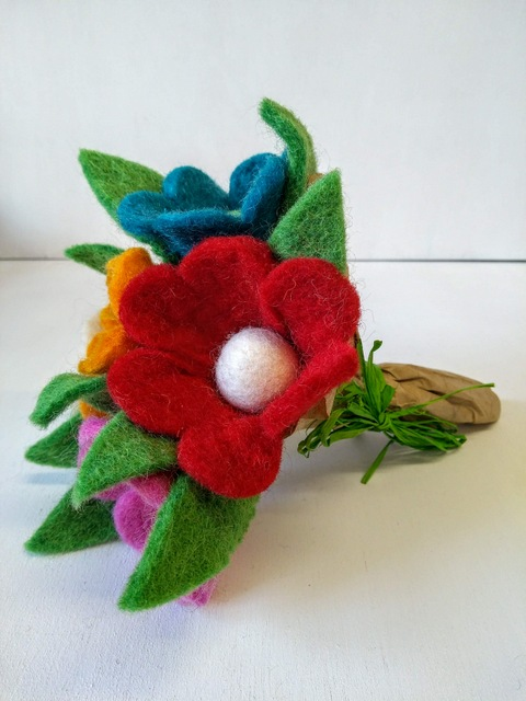 felted posy
