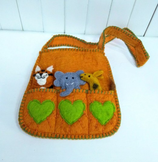 orange puppet bag