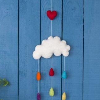 rainbow rain cloud mobile
