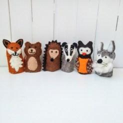 woodland finger puppets