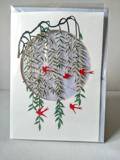 birds in willow card