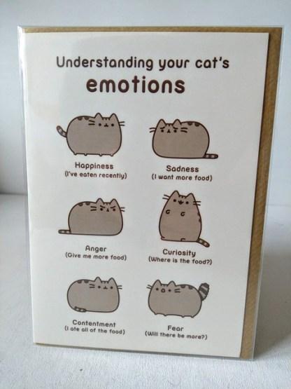 cat emotions card