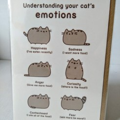 cat emotions card