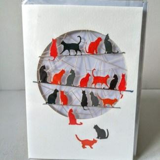 cats laser cut card