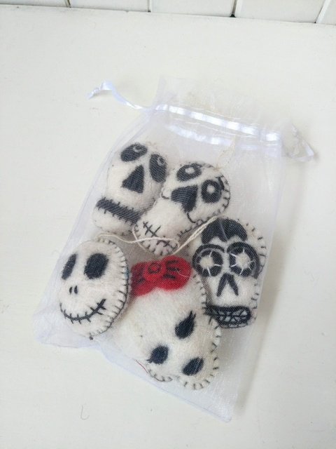 felt day of the dead heads set 2