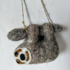 felt grey sloth