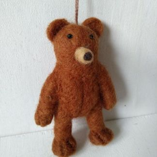 felt plain brown bear