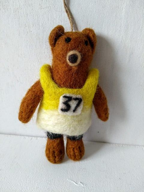 felt running bear