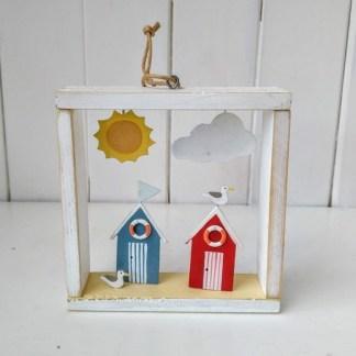 beach huts frame