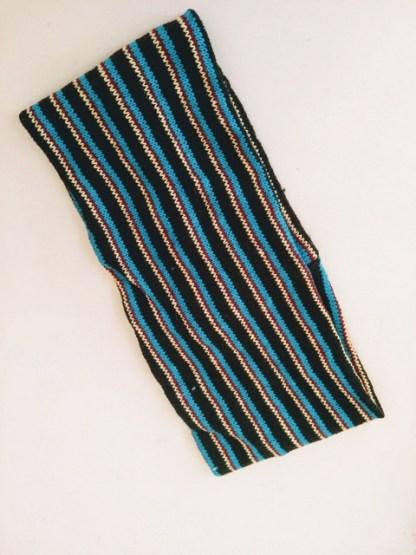 black and blue headband