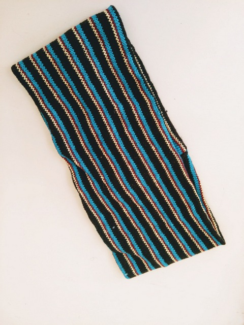 black and blue headband
