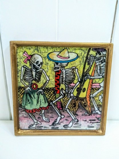dancing couple pastel frame