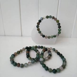 moss agate powwer bracelet