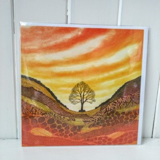 sunset at sycamore gap card
