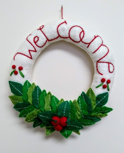 xmas welcome wreath