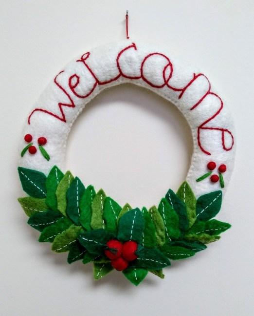xmas welcome wreath