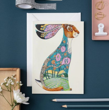 blue hare card
