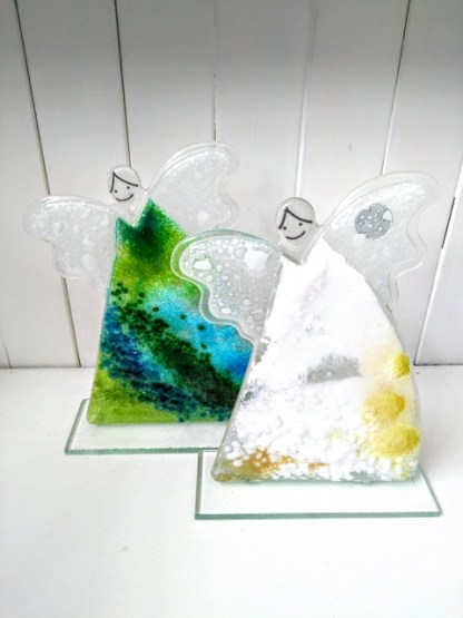 fused glass angels