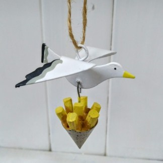 gull with chips