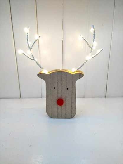 small lit reindeer