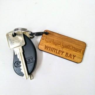 whitley bay bamboo keyring