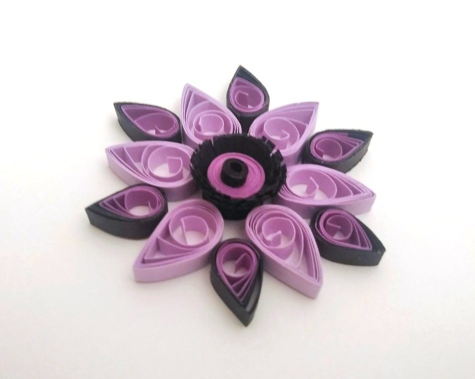 vidéo quilling fleur