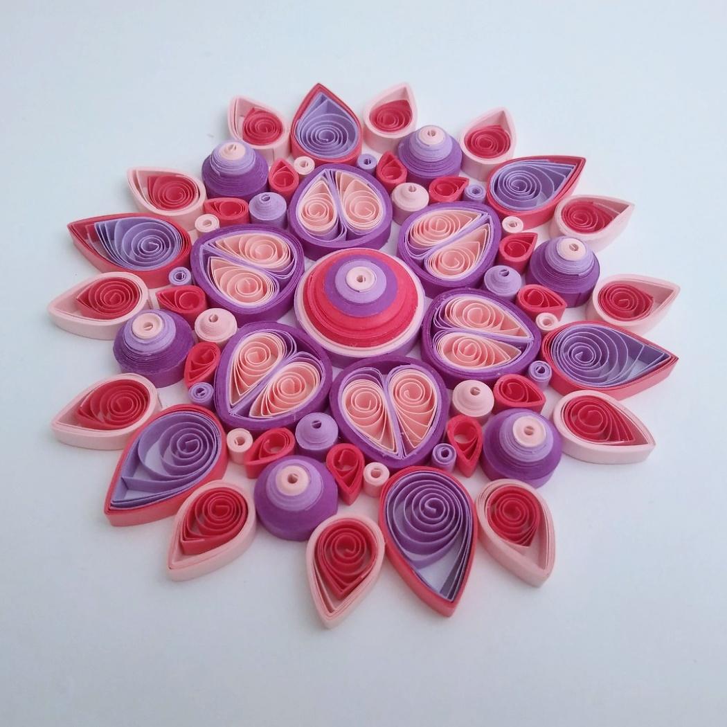 Songe d'été - Fleur mandala en papier Quilling