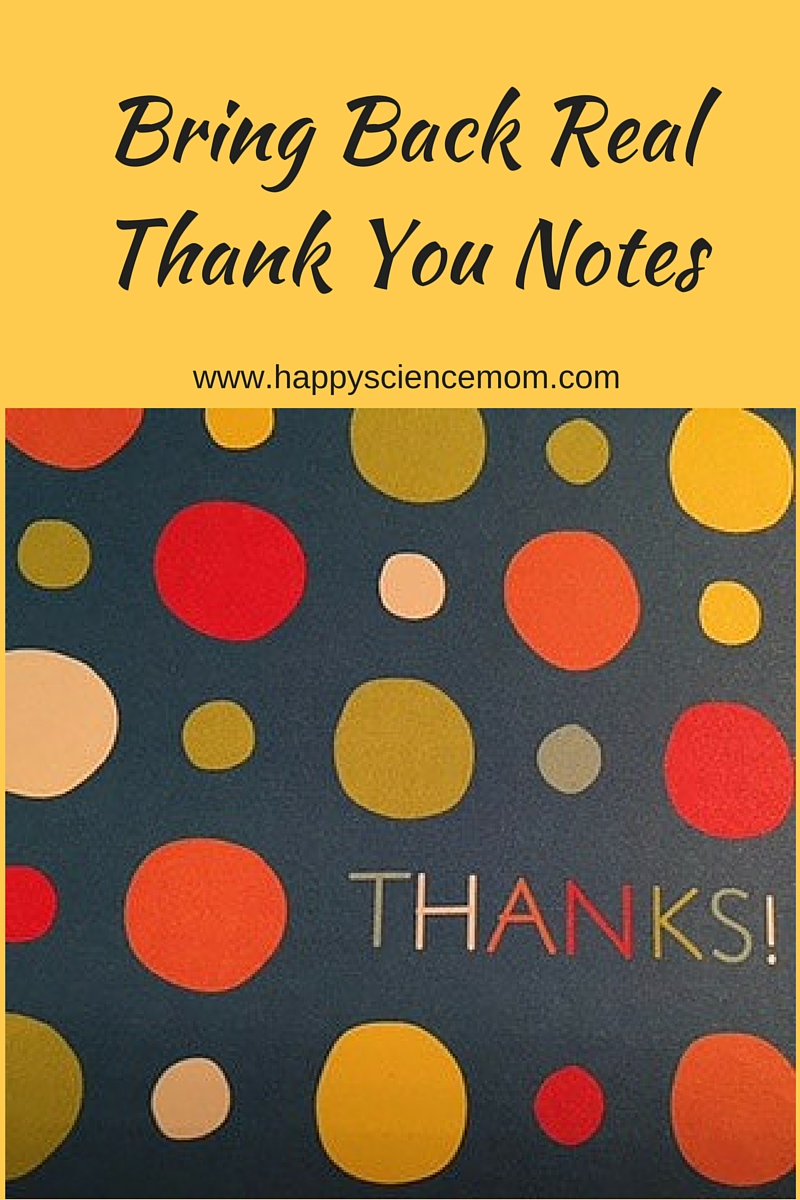 Bring Back Real Thank You Notes