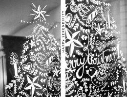 diy Opulente weihnachtliche Fensterdeko mit Kreidemarker ...