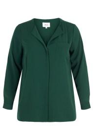 Αέρινο μακρυμάνικο Hi-Lo πουκάμισο σε πράσινο χρώμα
