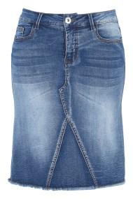 Mini jean φούστα σε denim blue χρώμα