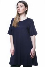 Μπλε μπλουζοφόρεμα απλό σε άλφα γραμμή