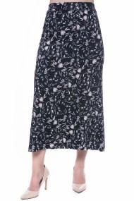 Maxi ελαστική φούστα με λουλουδάτο μοτίβο
