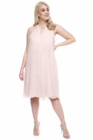 Μidi φόρεμα σε άλφα γραμμή στο χρώμα της πούδρας