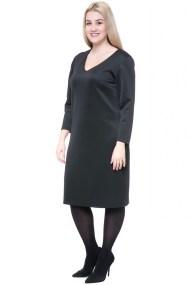 Midi μαύρο scuba φόρεμα
