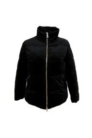 Μαύρο velvet μπουφάν με χρυσό φερμουάρ