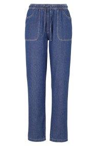 Denim dark blue παντελόνα με κορδόνι