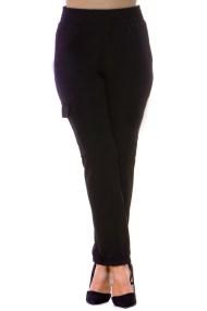 Κρεπ μαύρο παντελόνι με τσέπες