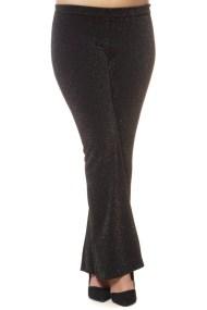 Λούρεξ μαύρο παντελόνι με καμπάνα