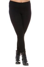 Μαύρο παντελονοκολάν με ανάγλυφη υφή