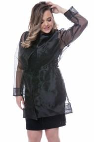 Διάφανη ζακέτα σε μαύρο χρώμα