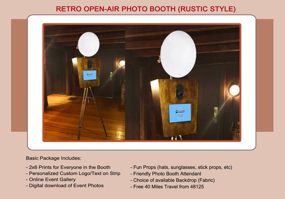 Open-air Retro Photo Booth-Rustic